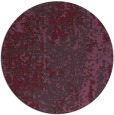 rug #1273023   round purple abstract rug