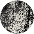 rug #1273071 | round white abstract rug