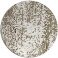 rug #1273095 | round white abstract rug