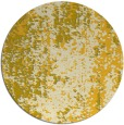 rug #1273099 | round yellow abstract rug