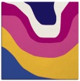 rug #1273615 | square blue-violet retro rug