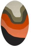 rug #1273907 | oval black gradient rug