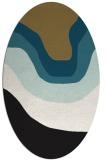 rug #1273911 | oval black gradient rug