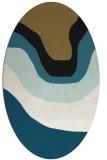 rug #1273913 | oval graphic rug