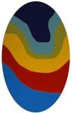 rug #1273915 | oval blue gradient rug
