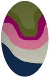 rug #1273927 | oval blue gradient rug