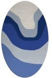 rug #1273931 | oval blue gradient rug