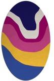 rug #1273983 | oval blue-violet graphic rug