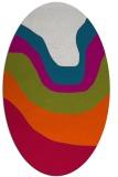 rug #1273999   oval red gradient rug