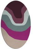 rug #1274051 | oval pink gradient rug