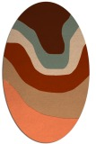 rug #1274107 | oval red-orange gradient rug