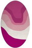 rug #1274111 | oval pink gradient rug