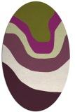 rug #1274131 | oval purple gradient rug