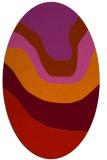 rug #1274155 | oval pink gradient rug