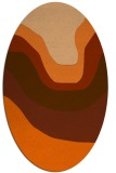 rug #1274163 | oval red-orange gradient rug