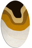 rug #1274187   oval brown retro rug