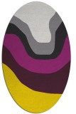 rug #1274211 | oval yellow gradient rug