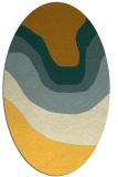 rug #1274215 | oval yellow gradient rug