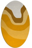 rug #1274239 | oval light-orange gradient rug