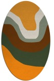 rug #1274243 | oval light-orange gradient rug