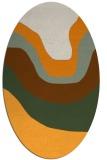 rug #1274246 | oval abstract rug
