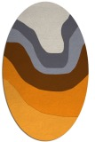 rug #1274247 | oval light-orange gradient rug