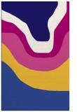 rug #1274351 |  blue-violet graphic rug