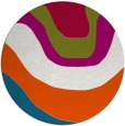 rug #1274739 | round blue-green gradient rug