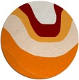 rug #1274835 | round orange abstract rug