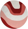 rug #1274887 | round red abstract rug