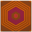 rug #1277479 | square red-orange geometry rug