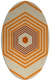 rug #1277563 | oval orange retro rug