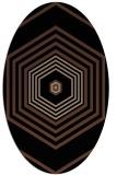 rug #1277579   oval black retro rug