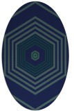rug #1277603 | oval blue retro rug