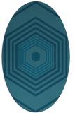 rug #1277632 | oval retro rug