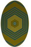 rug #1277640 | oval retro rug