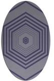 rug #1277651   oval blue-violet geometry rug