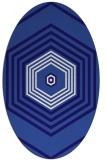 rug #1277663   oval blue-violet retro rug