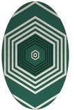 rug #1277699 | oval green geometry rug