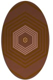 rug #1277715 | oval brown rug