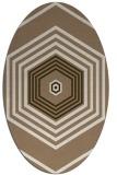 rug #1277723 | oval mid-brown retro rug