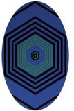 rug #1277767 | oval black retro rug