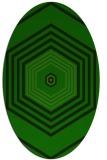 rug #1277771 | oval retro rug