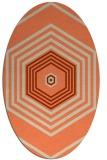 rug #1277783 | oval orange geometry rug