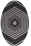 rug #1277787 | oval retro rug