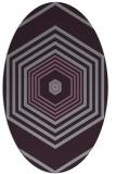 rug #1277819 | oval purple retro rug