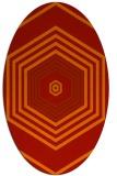 rug #1277827 | oval red rug