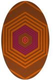 rug #1277847 | oval red-orange geometry rug