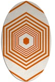 rug #1277851 | oval red-orange retro rug