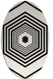 rug #1277855 | oval white retro rug
